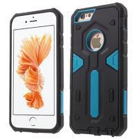 Shock odolný hybridný obal na iPhone 6 Plus a 6s Plus - modrý