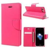 Bravo diary PU kožené zapínacie púzdro na iPhone 7 a iPhone 8 - rose
