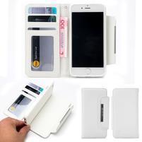 Wally multifunkčí peněženkové púzdro na iPhone 7 a 8 - biele