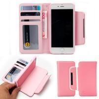 Wally multifunkčí peněženkové púzdro na iPhone 7 a 8 - ružové
