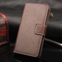 Leathem PU kožené peněženkové puzdro na iPhone 7 a 8 - coffee