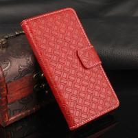 Texture PU kožené puzdro na iPhone 7 a 8 - červené