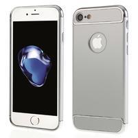 Hardy plastový odolný obal 3v1 na iPhone 7 a 8 - strieborný