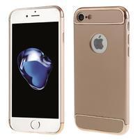 Hardy plastový odolný obal 3v1 na iPhone 7 a 8 - Rosegold / zlatý