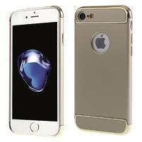 Hardy plastový odolný obal 3v1 na iPhone 7 a 8 - champagne / zlatý