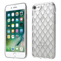 Plate 3D gélový obal na iPhone 8 a iPhone 7 - strieborný