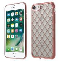 Plate 3D gélový obal na iPhone 8 a iPhone 7 - Rosegold