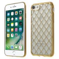 Plate 3D gélový obal na iPhone 8 a iPhone 7 - zlatý