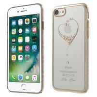 Xbar plastový obal sa Swarovski kryštály na iPhone 7 a iPhone 8 - srdiečko