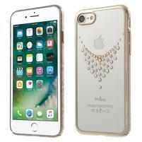 Xbar plastový obal sa Swarovski kryštály na iPhone 7 a iPhone 8 - náhrdelník