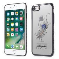 Xbar plastový obal sa Swarovski kryštály na iPhone 7 a iPhone 8 - pierko