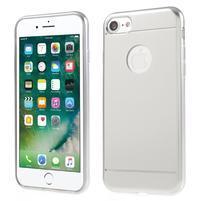 Style gélový obal na iPhone 7 a iPhone 8 - strieborný