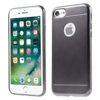 Style gélový obal na iPhone 7 a iPhone 8 - sivý