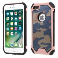 Maskovacie hybridný odolný obal na iPhone 7 a 8 - Rosegold