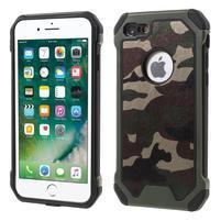Maskovacie hybridný odolný obal na iPhone 7 a 8 - army