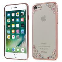 Ladies plastový obal krystay na iPhone 7 a 8 - ružový