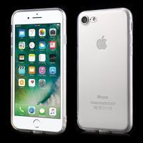 Trans priehľadný gélový obal na iPhone 7 a 8 - bezfarebný
