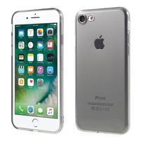 Trans priehľadný gélový obal na iPhone 7 a 8 - sivý