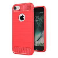 RuggiBrush odolný gélový obal na iPhone 7 a 8 - červený