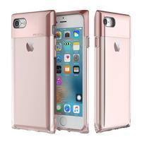 RockCrystal odolný hybridný obal na iPhone 7 a iPhone 8 - Rosegold
