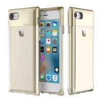 RockCrystal odolný hybridný obal na iPhone 7 a iPhone 8 - zlatý