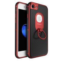 IPAK odolný obal so stojanom na iPhone 7 a iPhone 8 - čierny / červený