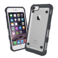 Bumper style hybridný obal na iPhone 7 a iPhone 8 - čierny