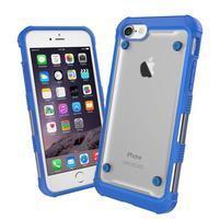 Bumper style hybridný obal na iPhone 7 a iPhone 8 - modrý