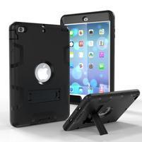 Full hybridný odolný obal na iPad mini 3 / iPad mini 2 / iPad mini - čierny
