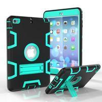 Full hybridný odolný obal na iPad mini 3 / iPad mini 2 / iPad mini - cyan