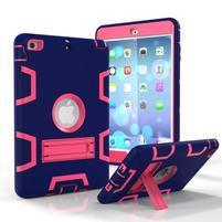 Full hybridný odolný obal na iPad mini 3 / iPad mini 2 / iPad mini - tmavomodrý / rose