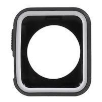 Rámovaný gélový obal na Apple Watch 42mm - čierny / biely