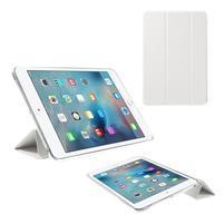 Foldy polohovateľné puzdro so skladacou chlopňou na iPad mini 3, iPad mini 2, iPad mini - biele