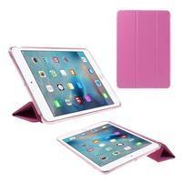 Foldy polohovateľné puzdro so skladacou chlopňou na iPad mini 3, iPad mini 2, iPad mini - rose