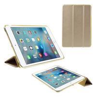 Foldy polohovateľné puzdro so skladacou chlopňou na iPad mini 3, iPad mini 2, iPad mini - champagne