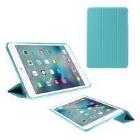 Foldy polohovateľné puzdro so skladacou chlopňou na iPad mini 3, iPad mini 2, iPad mini - modré