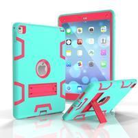 Stand hybridný odolný obal na iPad Pro 9.7 - cyan / rose