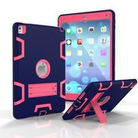 Stand hybridný odolný obal na iPad Pro 9.7 - tmavomodrý / rose