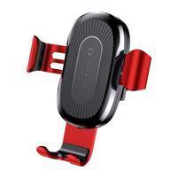 GRcar autonabíjačka pre bezdrôtové nabíjanie iPhone - červená