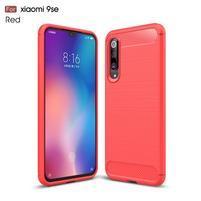 Fiber gélový odolný obal na Xiaomi Mi 9 SE - červený