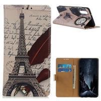 Patty PU kožené peněženkové puzdro na Xiaomi Mi 9 - eiffelova veža