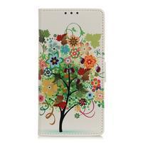 Patty PU kožené peněženkové puzdro na Xiaomi Mi 9 - farebný strom