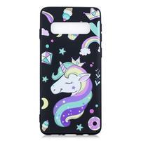 Printy gélový obal na mobil Samsung Galaxy S10 - jednorožec a sladkosti