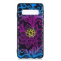 Printy gélový obal na mobil Samsung Galaxy S10 - čipkovaná kvetina
