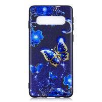 Printy gélový obal na mobil Samsung Galaxy S10 - modrí motýľe