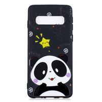 Printy gélový obal na mobil Samsung Galaxy S10 - panda