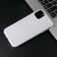 Fiber gélový obal na mobil Apple iPhone 11 Pro Max 6.5 (2019) - strieborný