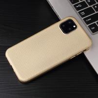 Fiber gélový obal na mobil Apple iPhone 11 Pro Max 6.5 (2019) - zlatý