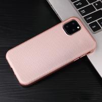 Fiber gélový obal na mobil Apple iPhone 11 Pro Max 6.5 (2019) - ružovozlatá