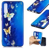 Patt gélový obal na Samsung Galaxy A50 - modrý motýľ